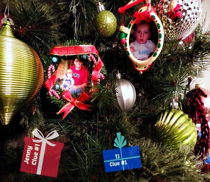 Christmas Memory Christmas Clue Hunt - Christmas Clues on the Tree- The Hypertufa Gardener