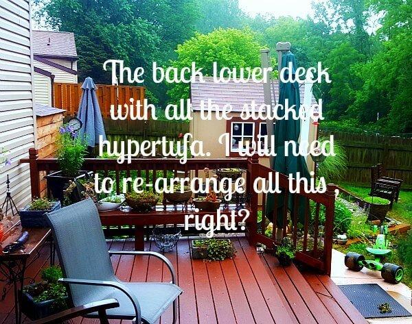 Kims Gardens 2015 Back Lower Deck - The Hypertufa Gardener