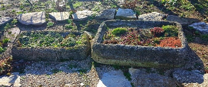 Some of the Many Hypertufa at Cox Arboretum - The Hypertufa Gardener