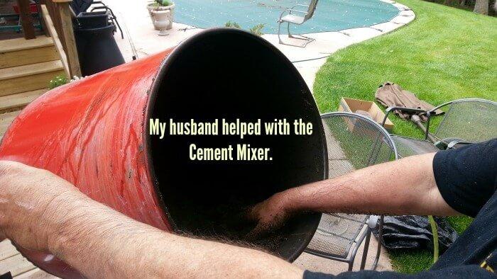 Cement Mixer to Make a Big Hypertufa