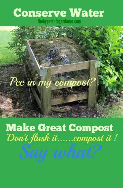 Conserve Water, don't flush it, compost it. (1)