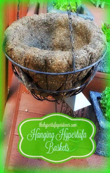Hanging Hypertufa Baskets - I Tried It & It Works!