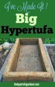 Oh What a Big Hypertufa - I Made It