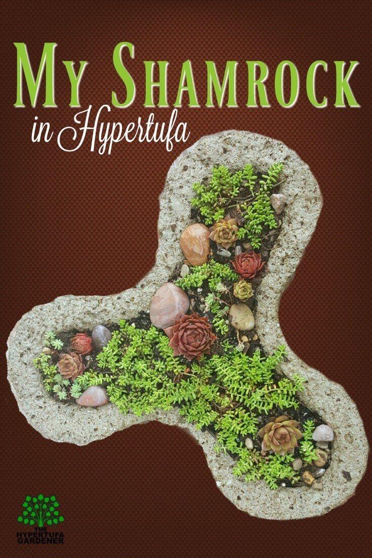 One of my cutest hypertufa molds- the Shamrock