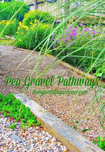 Pea Gravel Pathways in the Garden