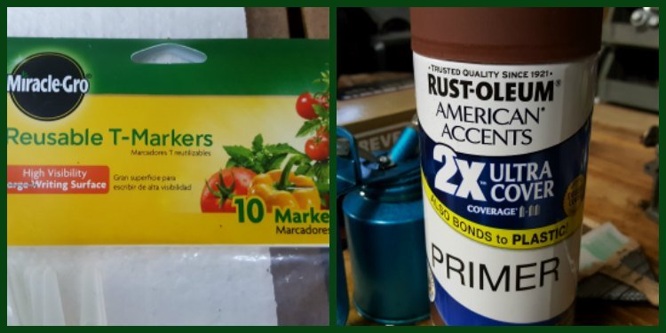 Supplies for Custom Plant Markers