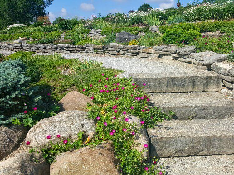 Cox Arboretum Rock Gardens tiers