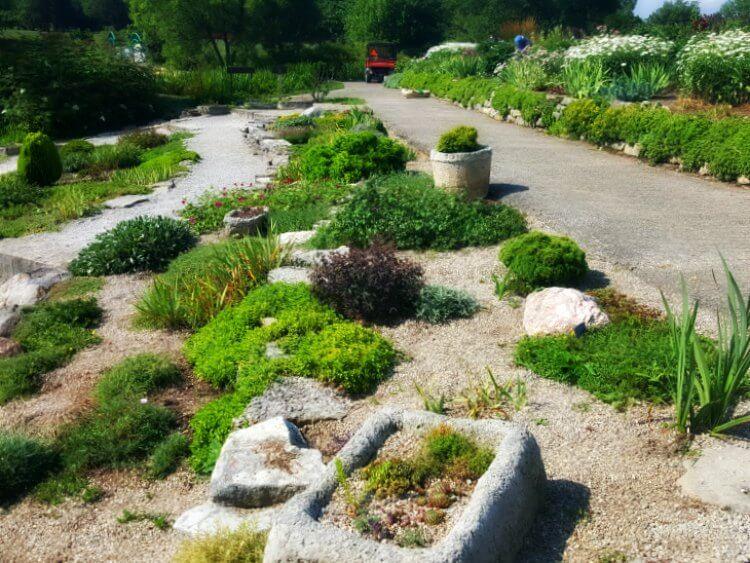 Cox Arboretum Rock Gardens view