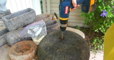 Making Drainage Holes