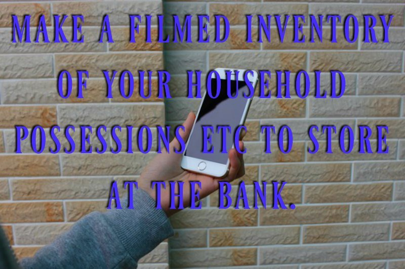 home insurance - make a video of your possessions
