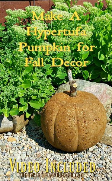 How to Make Hypertufa Pumpkins - It's Easy