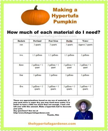 Printable for how to make hypertufa pumpkins
