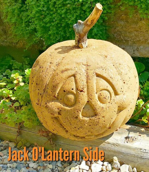 how to make hypertufa pumpkins - Jack O Lantern