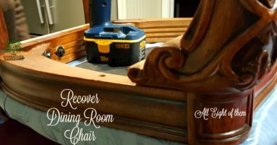 Get Your Drill & Fabric and Recover Dining Room Chair