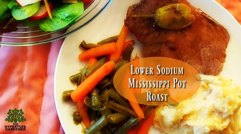 Lower Sodium Mississippi Pot Roast - Slow Cooker Meal(1)