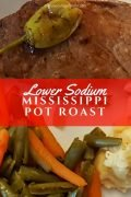 Lower Sodium Mississippi Pot Roast - Easy Recipes in the Slow Cooker