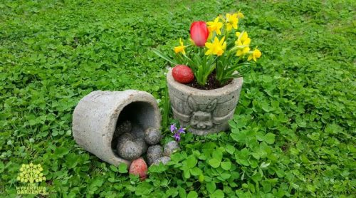 Hypertufa Easter Basket Planters – And Eggs Too!