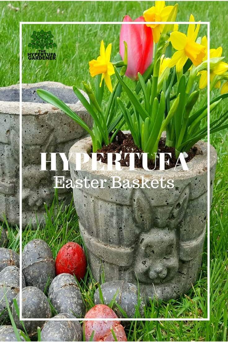 Hypertufa Easter Baskets - Eggs Too