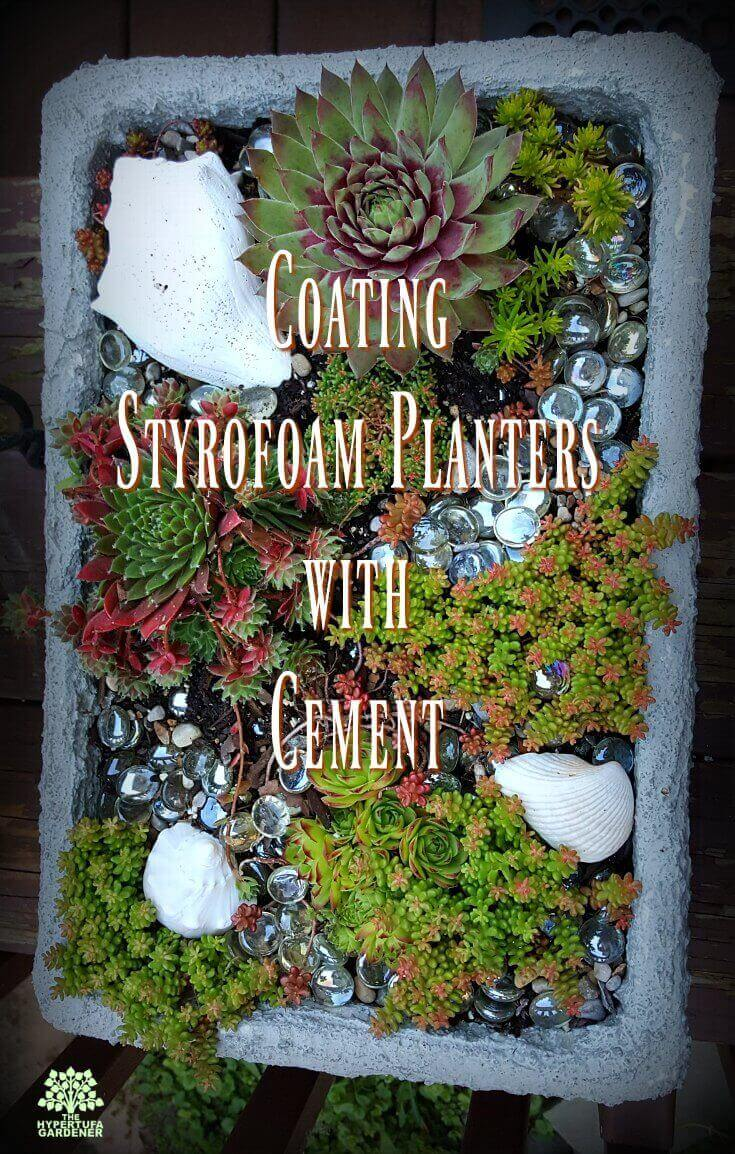 Coating Styrofoam planters with cement