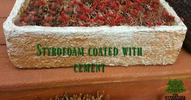 Coat Those Styrofoam Planters With Slurry!