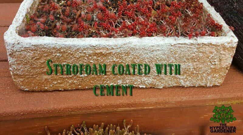 Styrofoam coated with cement - It really looks like real hypertufa