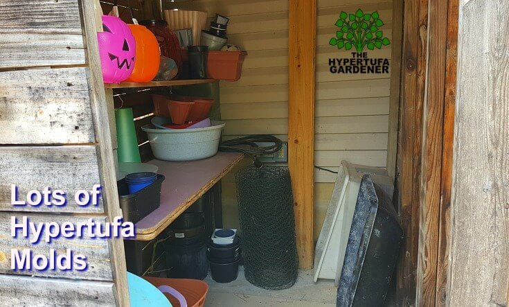 I have a lot of hypertufa molds left after I worked and declutter my garden shed.