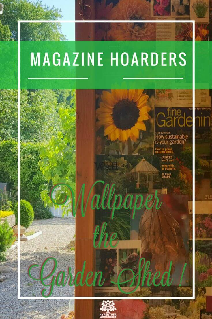 Wallpaper Your Garden Shed with Extra Magazines - This is part of my renewal of the She Shed. I am working to de-clutter my garden shed.