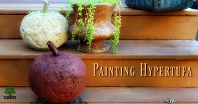 You Can Paint Hypertufa! Make A Teal One!
