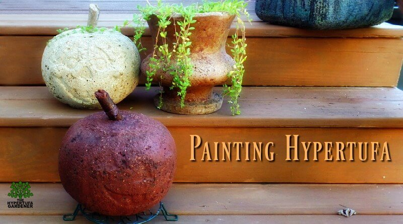 You Can Paint Hypertufa! Make A Teal One!