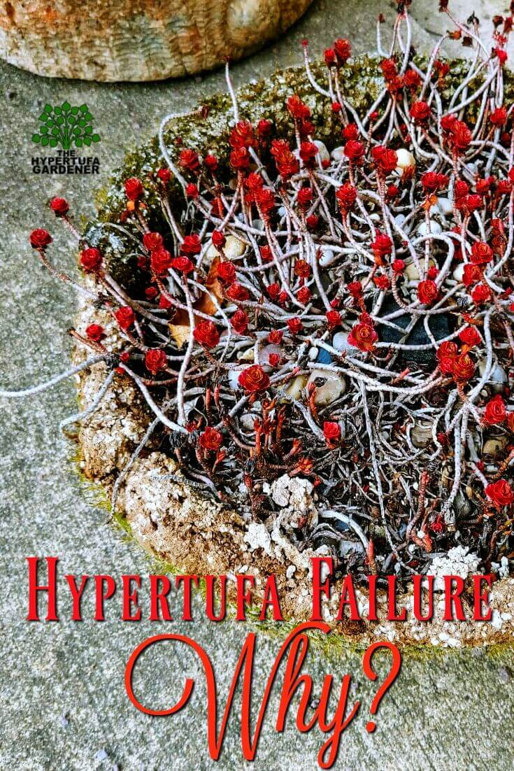 Hypertufa Failure - What could be the cause