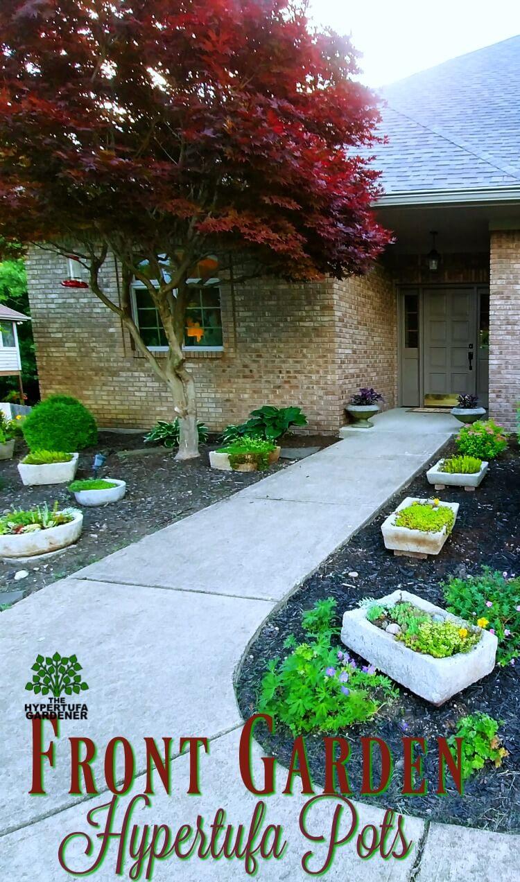 Front Garden Hypertufa Pots