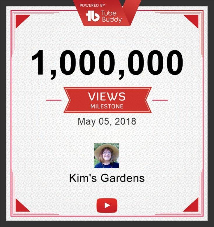 Kims Gardens 1 million views