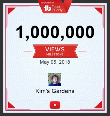 The Hypertufa Gardener YouTube Channel Milestone. Thanks for the 1 million views