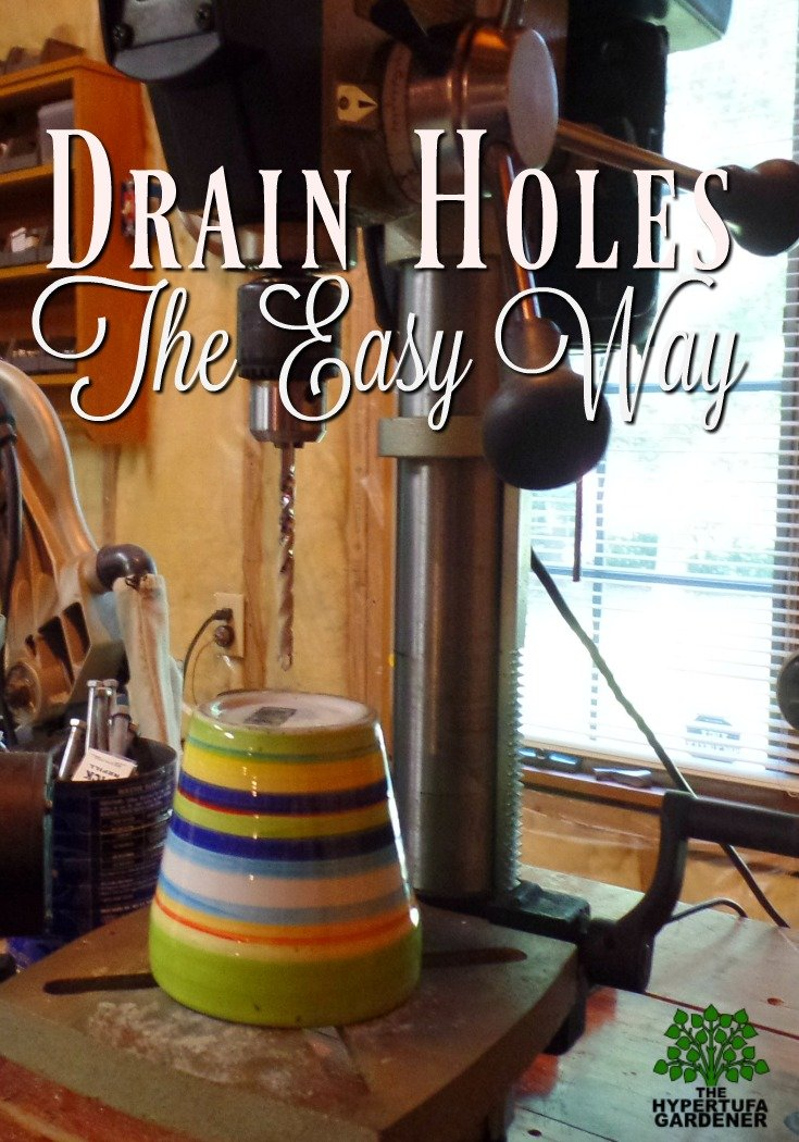 Drain Holes the easy way!
