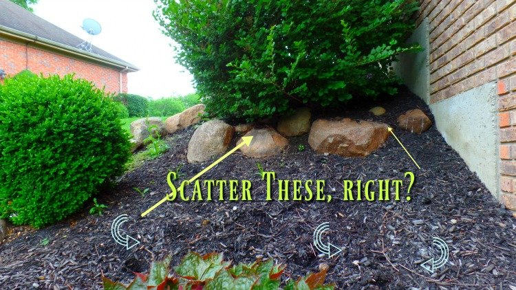 Landscaping with rocks - I will scatter these out along the hill.