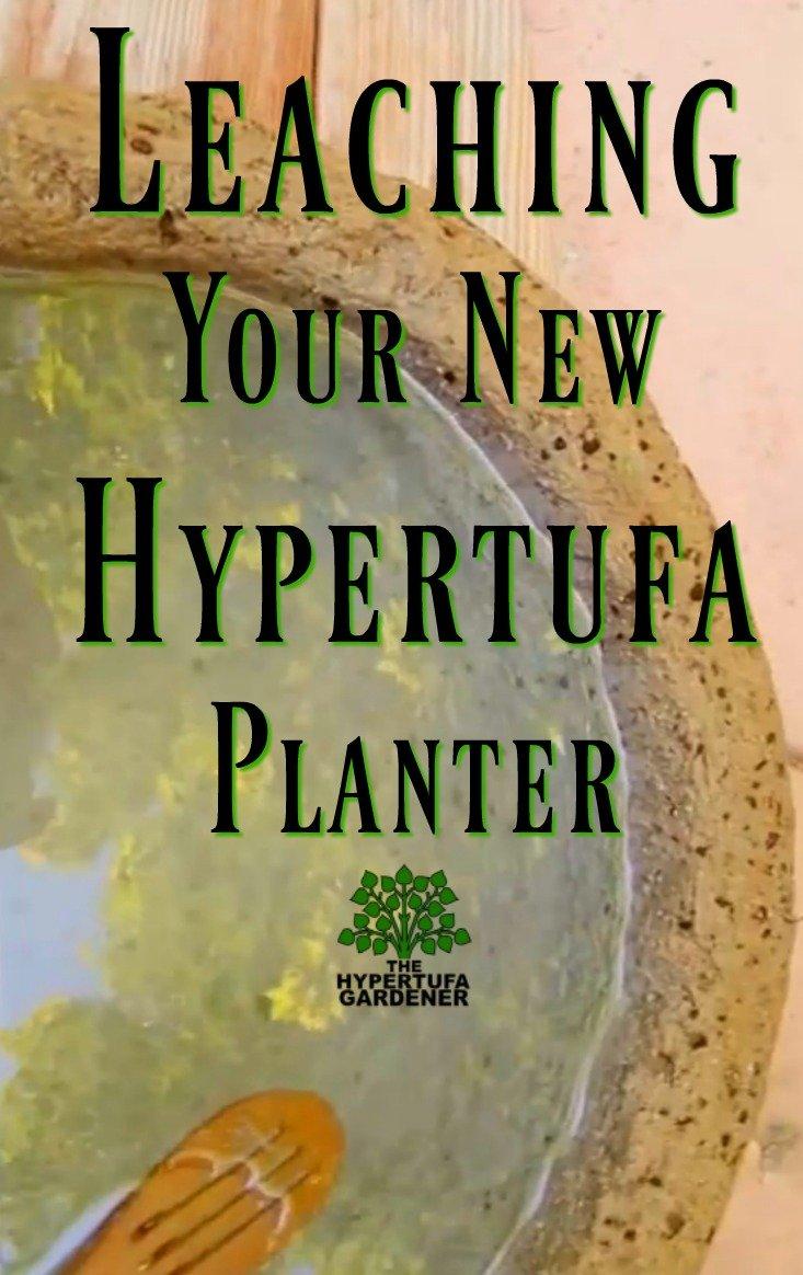 Leaching New Hypertufa Planter