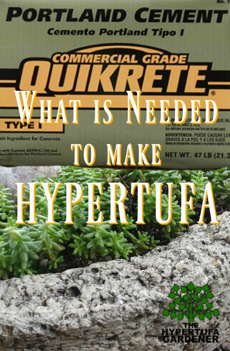 Portland cement - What is needed to make hypertufa