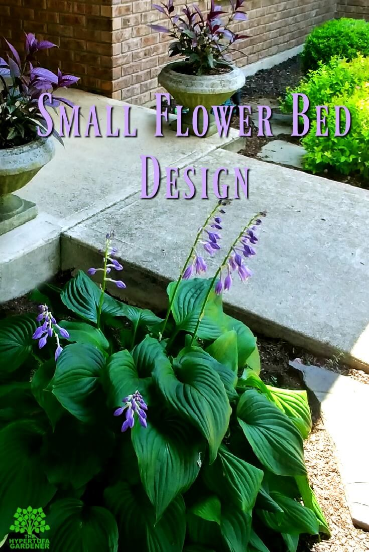 Small flower bed design - We have a small area but a lot of hypertufa pots. It made a difference how we designed the layout.