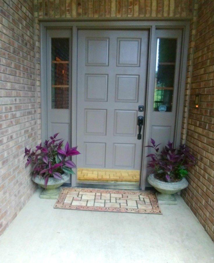 The focus on the front door of my small flower garden design