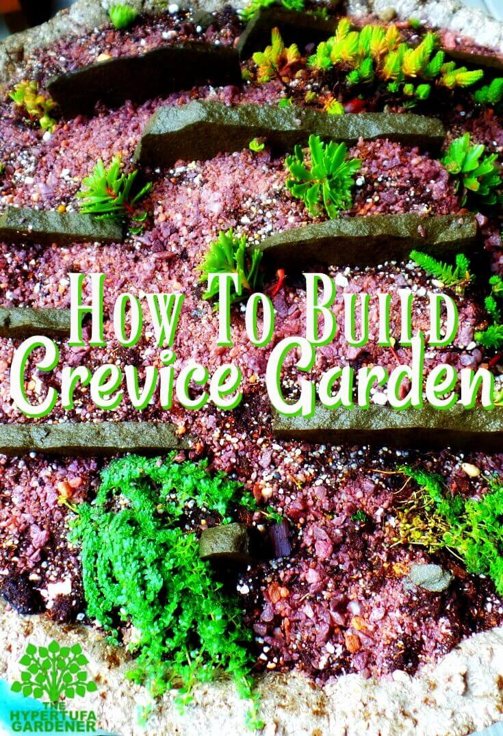 How to build a crevice garden in hypertufa