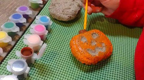 Pumpkin Faces From Hypertufa – Another Halloween Craft