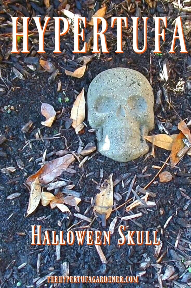 Hypertufa Halloween skull