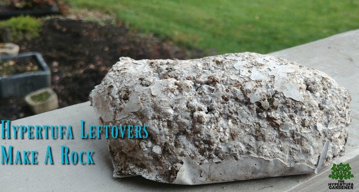 Hypertufa rock from leftover mixture. Part of my Halloween crafts