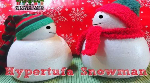 How to Make A Hypertufa Snowman – Use Pantyhose or Knee Highs!