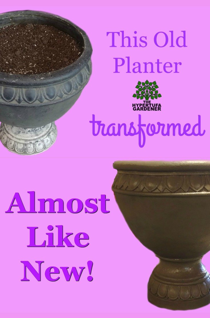 Renewing Old Planters in Just an hour or so. Easy and Cheap!