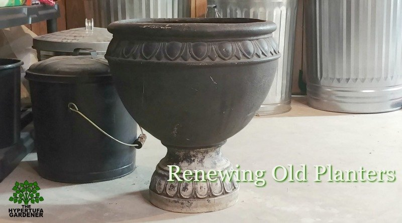 Renewing old planters with just a can of paint