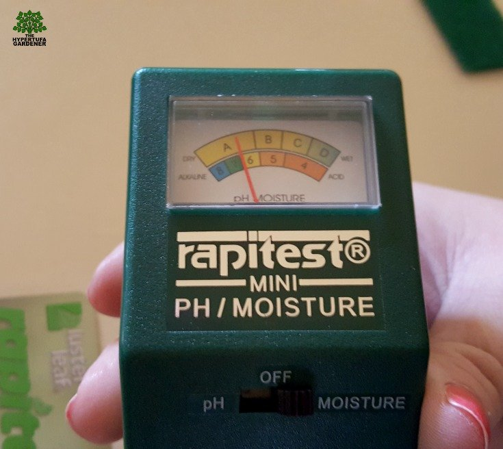 Great tool for measuring the moisture in house plants - and the pH too.