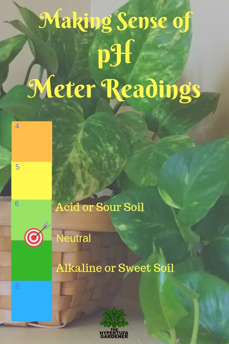 What number am I looking for on the pH reading? Using a pH meter for house plants or hypertufa.