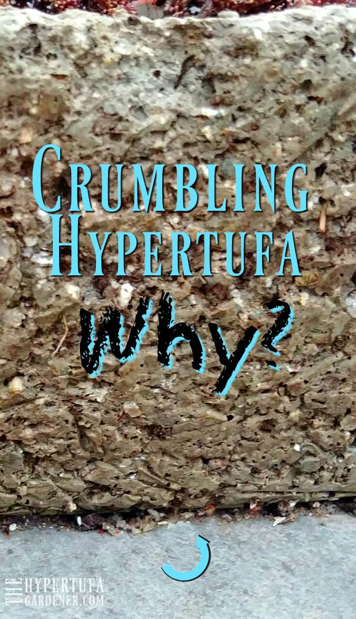 Crumbling Hypertufa Pots - Why is this happening