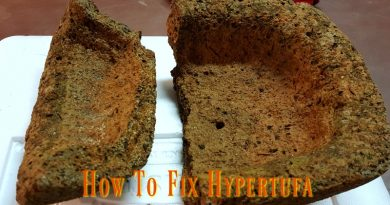 How to fix broken hypertufa bowl